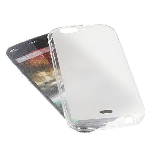 foto-kontor Tasche für Wiko Darkfull Gummi TPU Schutz Handytasche milchig transparent