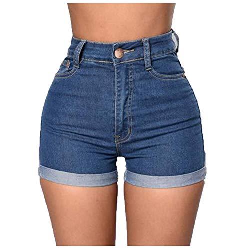Women's Summer Denim Shorts Casual High Waisted Short Mini Jeans Ladies Girls Beach Holiday Party Jeans Shorts Pocket Hotshorts