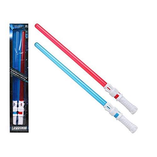 BigBuy Fun- Espada Laser Azul Rojo (2 Uds) (S1123853)