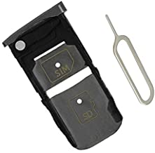 SIM Card Slot Holder Tray for Moto Z Force Droid XT1650-02 XT1650-05 (Gray Single sim)