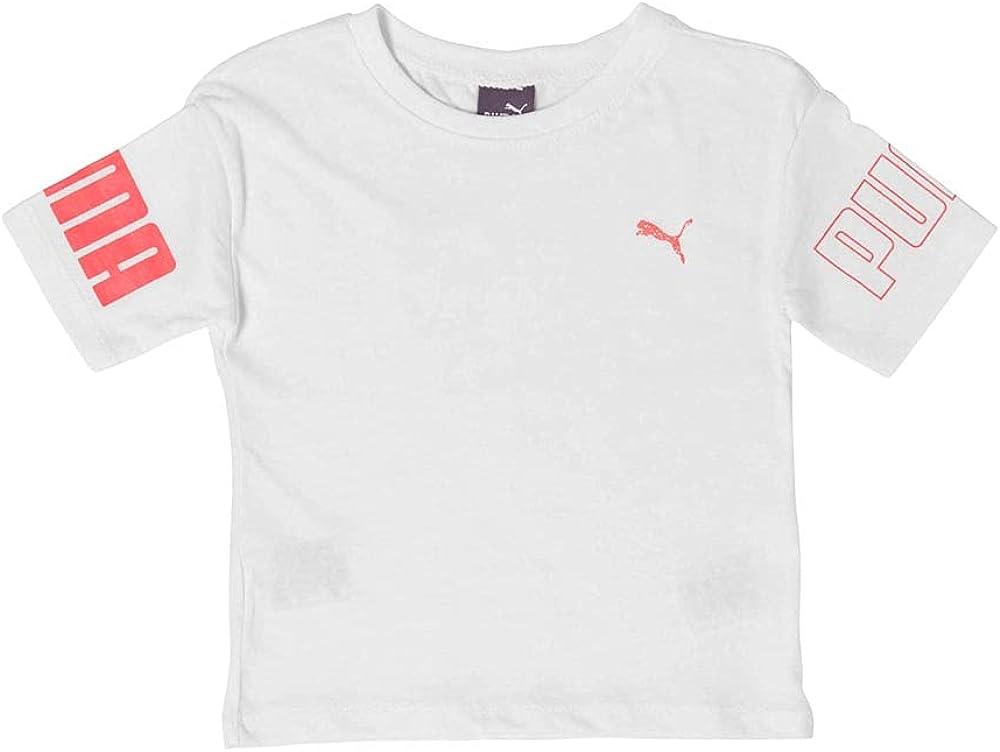 PUMA Toddler Girls Oversized Hi-Low T-Shirt Top - White