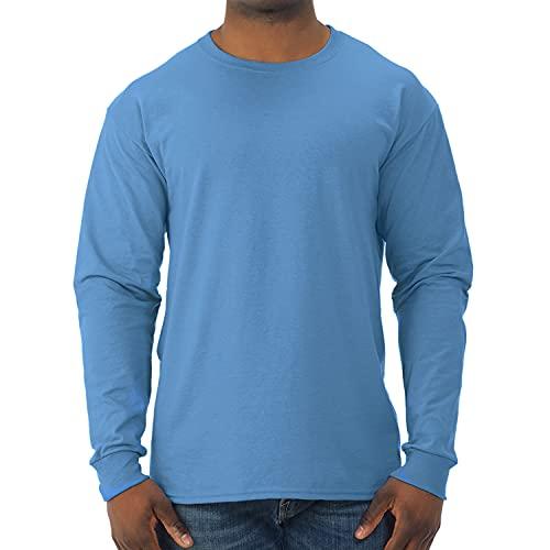 Jerzees Men's Dri-Power Long Sleeve T-Shirt, Columbia Blue, Medium