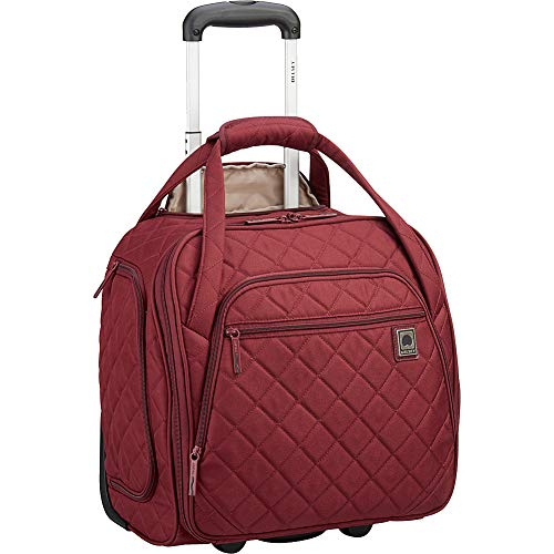 DELSEY Paris Rolling Under Seat Tote Bag, Burgundy, One Size