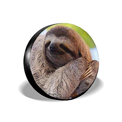 MODORSAN Funny Sloth - Cubierta Universal para Llantas de Repuesto, Protectores de Llantas Impermeables a Prueba de Polvo para Jeep, remolques, vehículos recreativos, SUV y Camiones, 14 Pulgadas