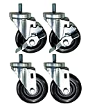 Caster Set of Four | 4' Replacement for True Refrigerator Part 830277