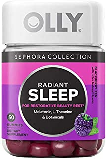 OLLY Radiant Sleep Gummy Vitamins! Formulated with Melatonin, L-Theanine, Chamomile, Passionflower And Lemon Balm! Promote Healthy Sleep Cycles, Calmness, Soothe & Relaxation!Radiant Sleep Gum (Sleep)