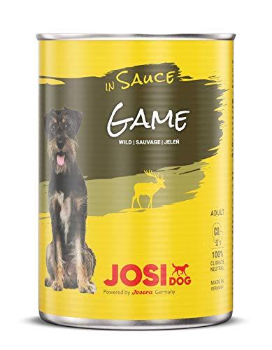 JosiDog Game in Sauce (12 x 415 g) | Nassfutter in Sauce mit Wild| für ausgewachsene Hunde | Hundefutter | powered by JOSERA
