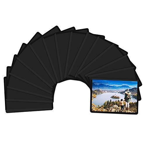 Magicfly Marco de Fotos Magnético 6x9 cm para Nevera, Portafotos Magnéticos, Fundas Imantadas para Cartas, Fujifilm Instax Mini Film, Negro, 15 pcs