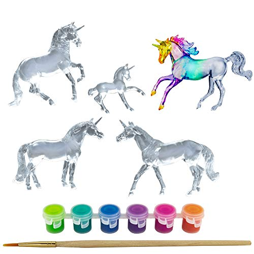 Breyer Stablemates Suncatcher Unicorn Craft Set | 5 Piece Set | 1:32 Scale | Model #4220