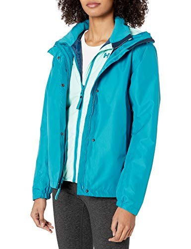 Helly Hansen Squamish 2.0 3-in-1 Amovible e Isolée Veste Imperméable Femme, Blue Wave, FR : M (Taille Fabricant : M)
