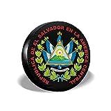 YZXC Cubierta de neumático Car Tire Cover Coats of Arms of El Salvador Universal Backup Weatherproof Tire Protector - (14-17inch)
