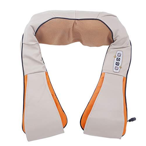 Rücken- und Nackenmassagegerät mit 4D-Wärme-Tiefengewebeknetmassage für Muskeln Schmerzlinderung Entspannung für Nacken, Rücken, Schulter, Fuß und Beine, Verwendung zu Hause, Auto, Büro,4buttons