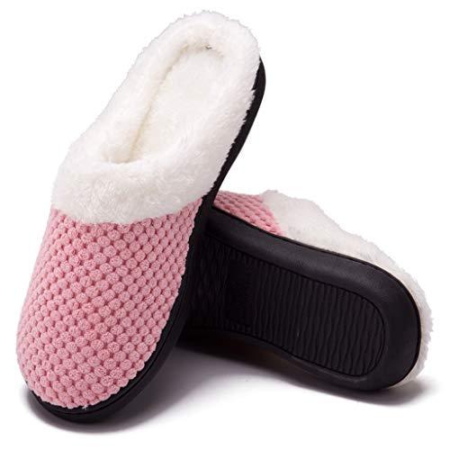 Toamen Pantofole da casa per Donna Uomo Inverno Peluche Memory Foam Ciabatte da casa - Ultra-Leggero, Antiscivolo, Caldo, Confortevole da Casa Interno Esterno Pantofole