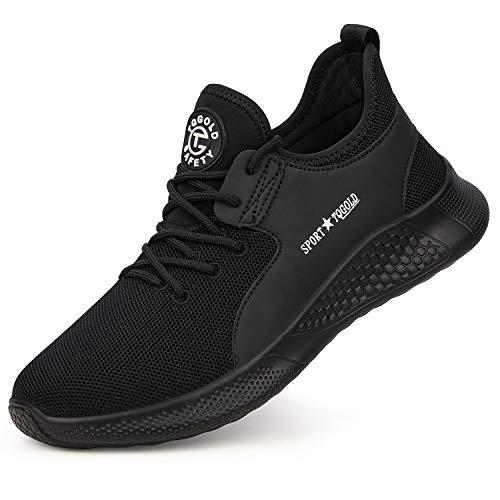 tqgold Veiligheidsschoenen Heren Dames Werkschoenen S3 Ademend Beschermende Schoenen Stalen Sneaker