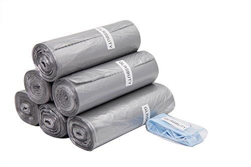 GLRSBUTY Trash Bag Silver Grey Color Wastebasket Bags for Living Room Bedroom 18x18.9 Inches 180 Counts / 6 Rolls for Halloween