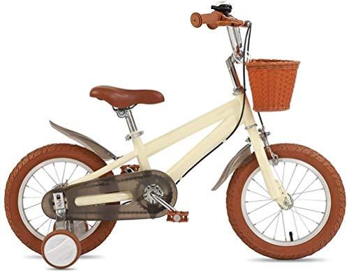 Kids Bike con la rotella di addestramento, 14' 16' 18' del bambino bicicletta con cestino e freno a mano for 2-7 anni, delle ragazze dei ragazzi del bambino della bicicletta con il 85% assemblato