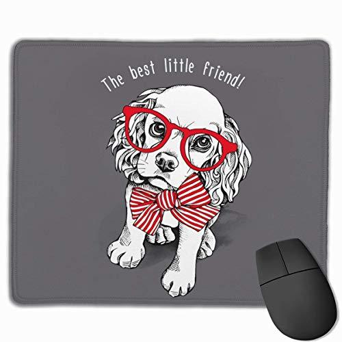 Gaming Mouse Pad, personalisierte benutzerdefinierte Maus Padnon-Slip Gummi Gaming Mouse Pad, bleiben Sie positiv, arbeiten Sie hart und lassen Sie es geschehen Hund Welpe Cocker Spaniel in rot gestre