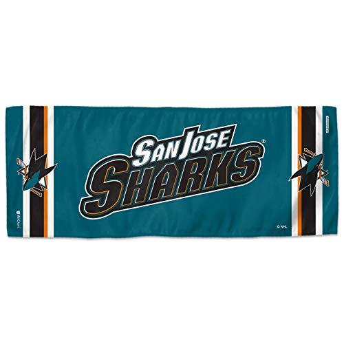 Wincraft NHL COOLING - Toalla deportiva (75 x 30 cm), diseño de tiburones San José