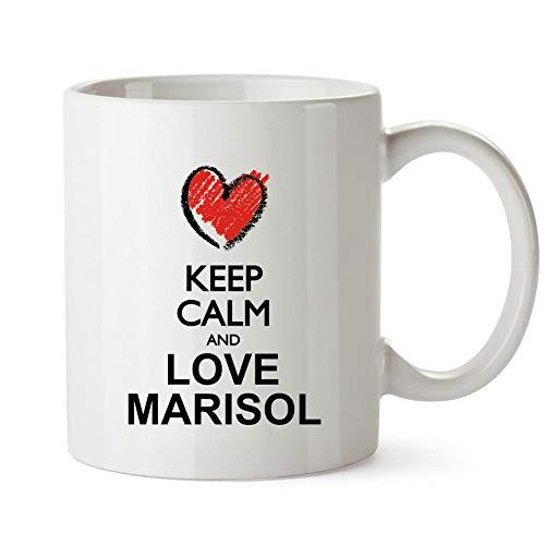 Idakoos Keep calm and love Marisol chalk style Mug 11 ounces