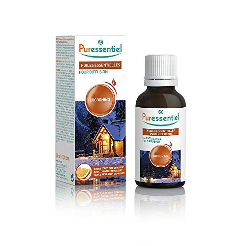 Puressentiel - Huiles Essentielles pour Diffusion - Diffuse Cocooning - 100% pures et naturelles - Aide à créer une ambiance réconfortante - 30 ml
