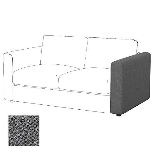 Soferia Funda de Repuesto para IKEA VIMLE apoyabrazo, Tela Nordic Grey, Gris