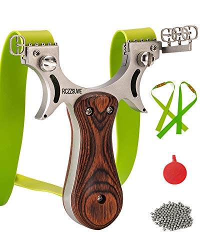 RCZZSUWE Slingshot, Professional Hunting Shooting Slingshots with Ammo