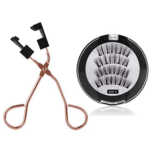 8D Quantum Magnetic Eyelashes with Soft Magnet Technology Dual Natural Lash, 0.2mm Ultra Thin Magnet, Light Weight Reusable 3D Eyelashes With auxiliary eyelash curler E