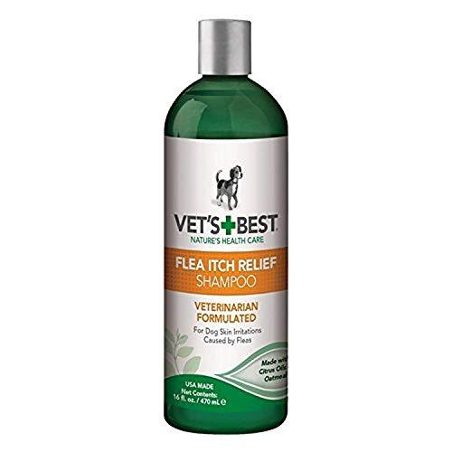 Vet's Best Floh Itch Relief Hund Shampoo | Flohbehandlung für Hunde mit natürlichen Ölen, 470ml 3165810039
