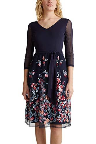 ESPRIT Collection Damen 030EO1E350 Kleid für besondere Anlässe, 400/NAVY, XL