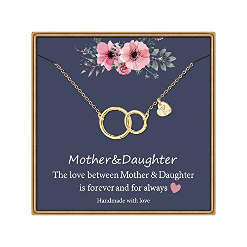 IEFLIFE for Mom, 14K Gold Plated Infinity Circle Necklace Gifts for...