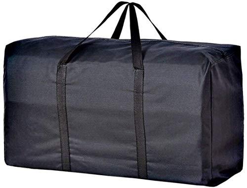 Borsa portaoggetti extra large da 160 l, con cerniera, impermeabile, per viaggi, campeggio, college, per trasportare decorazioni natalizie