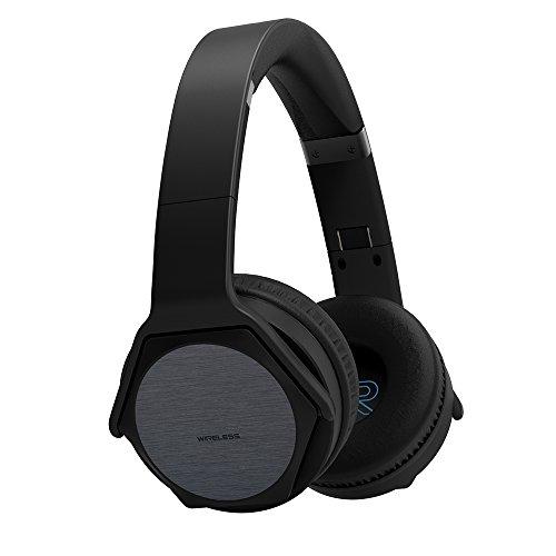 VEENAX HS3 Auriculares Bluetooth Over-Ear Altavoz Portátil, Cascos Inalámbricos Deportivos & Altavoz en uno, Audífonos Estéreo con Micrófono NFC y Bajos para iPhone Smartphone PC Tablet MP3, Negro