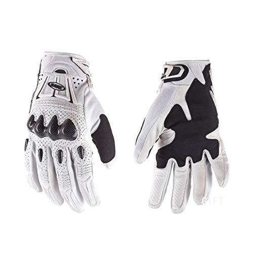 Motorradhandschuhe mit Carbon-Schutz-Hartschale, Unisex-Winterleder-Thermomotorradhandschuh, Handschuhe für Skirennen, rutschfestes Material auf der Handfläche, magische Handgelenksschnalle