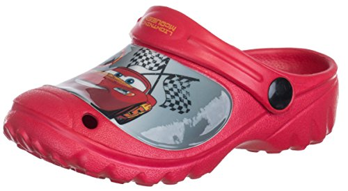 Brandsseller Kinder Disney Clogs Cars - Lightning McQueen - Hausschuhe Gartenschuhe Badeschuhe - Farbe: Rot - Größe: 30/31