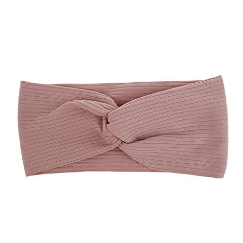 Cocoty-store Diademas para Mujer, Estampado Floral Torsi¨n Nudo Banda para el Cabello Yoga Cabeza Envoltura Deportes Turbante(Rosado