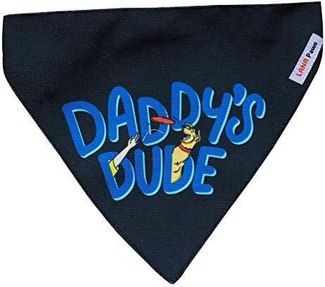 Lana Paws Adjustable Daddy's Dude Dog Bandana (Black)