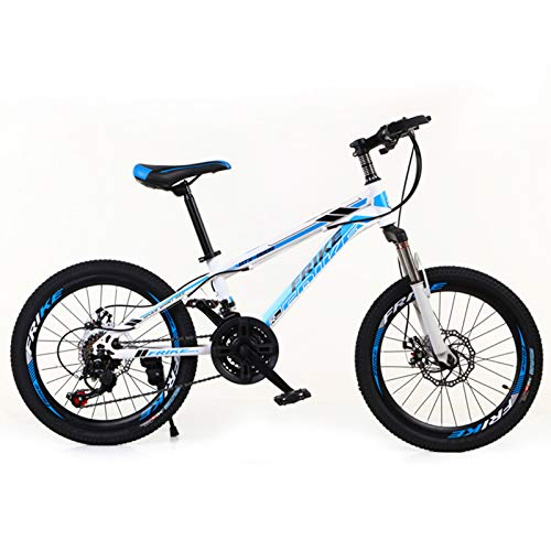 Bicicleta de montaña para niños con amortiguación de impactos y bicicleta de velocidad variable, bicicleta para exteriores con amortiguación de impactos de doble disco, bicicleta de montaña de 20/24