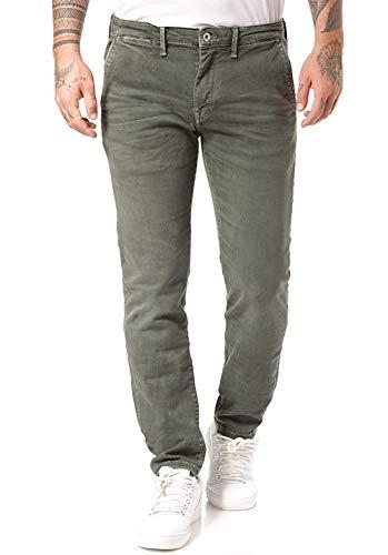 Pepe Jeans James Pantaloni, Verde (Dark Khaki Green 785), W38/L30 Uomo