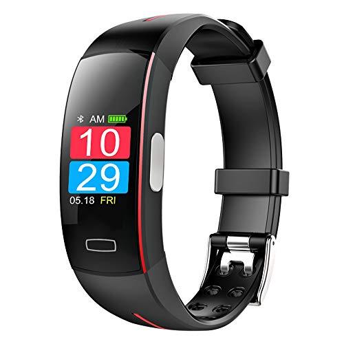 Flashing lights Intelligente Uhr, 0,96-Zoll-Farbbildschirm, Fitness-Tracker, EKG + PPG EKG-Herzfrequenz-Blutdruckmessung, Wasserdichter IP67-Sportarmband-Schrittzähler, Kompatibel Mit Android Und IOS