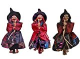 Fashionclubs Halloween Hanging Witch Decoration Toys,3pcs 8