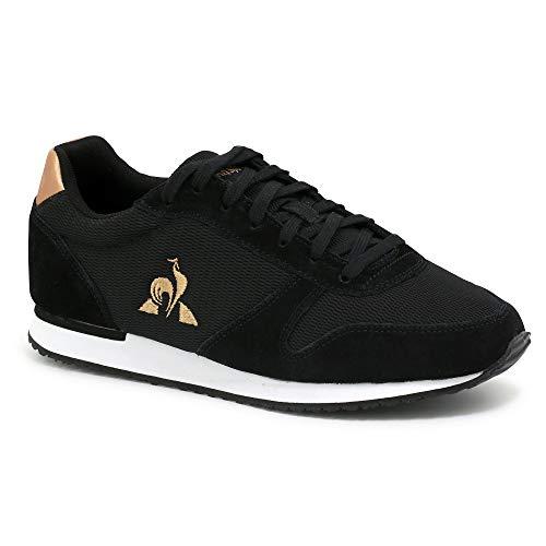 Le Coq Sportif Damen Matrix Sneaker, Schwarz/Roségold, 37 EU