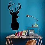 Adhesivos de pared pizarrones de dibujos animados pizarras decoraciones de la sala de estar ciervos cabeza derecha