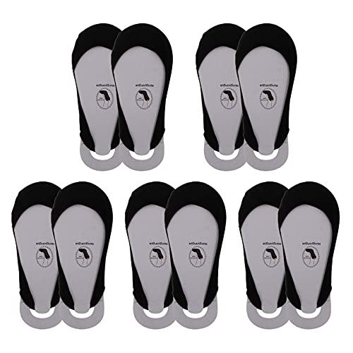 Amosfun 5 pares de calcetines para mujer, botas, planos, invisibles, para verano, algodón, media suela