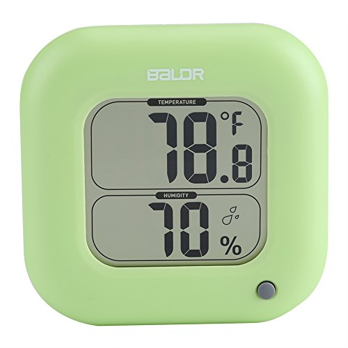 Thermometer-hygrometer, mini digitale thermometer-hygrometer voor woonkamer, keuken, wasruimte, vochtigheid binnenshuis (groen)