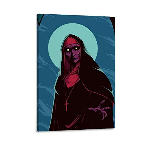 Póster de la monja de DRAGON VINES Terror Movie The Nun en lienzo y estampados, obra de arte de dormitorio de 50 x 75 cm.