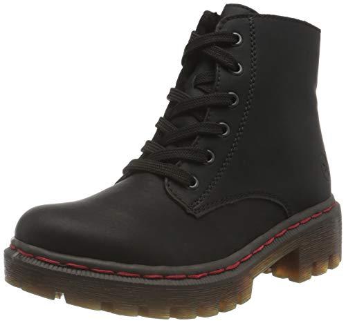 Rieker Damen Y8740 Mode-Stiefel, schwarz, 37 EU
