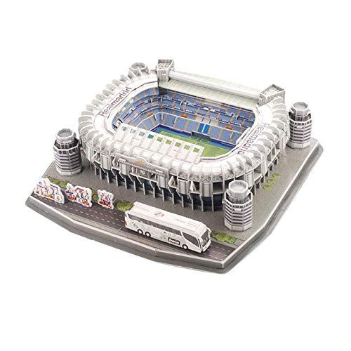 thorityau Stadium Modell 3D Puzzle Fußballstadion Stadium Modellbausatz Allianz Arena Bei Nacht Stadion Im Miniatur-Format Für Kinder Jahren Und Erwachsene