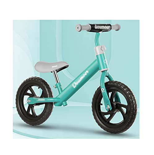 Kids' Bikes,Child Balance Bicycle,2-6 Years Old,Training Bicycle Without Pedals,12 Inch Gifts for Boys and Girls Green