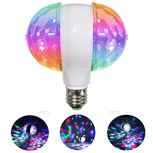MINO ANT Disco Ball Light Strobe Lights for Parties- 6W E27 RGB Multicolor Led Party Disco Lights Strobe Light DJ Stage Light Bulb Decor for Holiday, Birthday, Disco, Club, Party, Christmas (1 Pack)