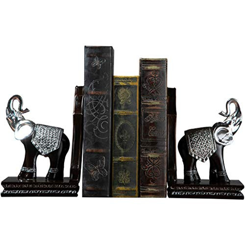 CIGONG-bookshelf European Elephant Book File Decoration Study Office Desktop Book Book by Wine Cabinet Decoration Furnishings 27.5x10.5x19cm